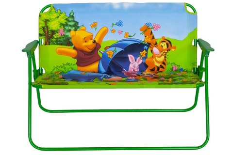 Kids Folding Patio Bench Chair - Winnie the Pooh & Friends