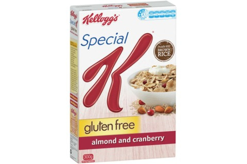 Kelloggs Special K Gluten Free Cereal Almond & Cranberry 300g