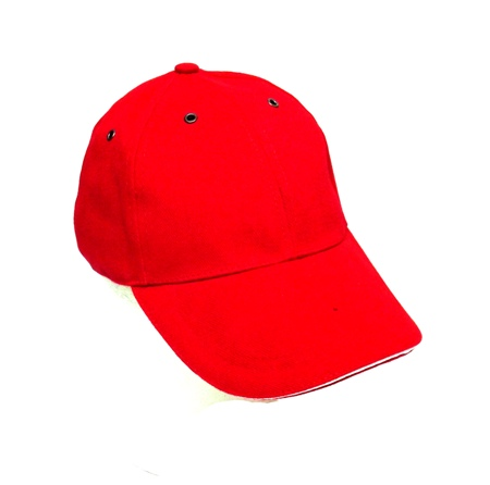 Cap - Red with White Trim