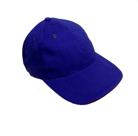 Cap - Royal Blue with Red Trim