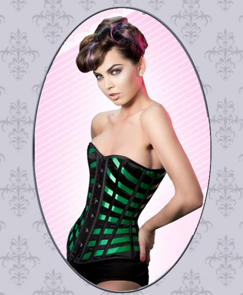 Corset - Green Ribbon