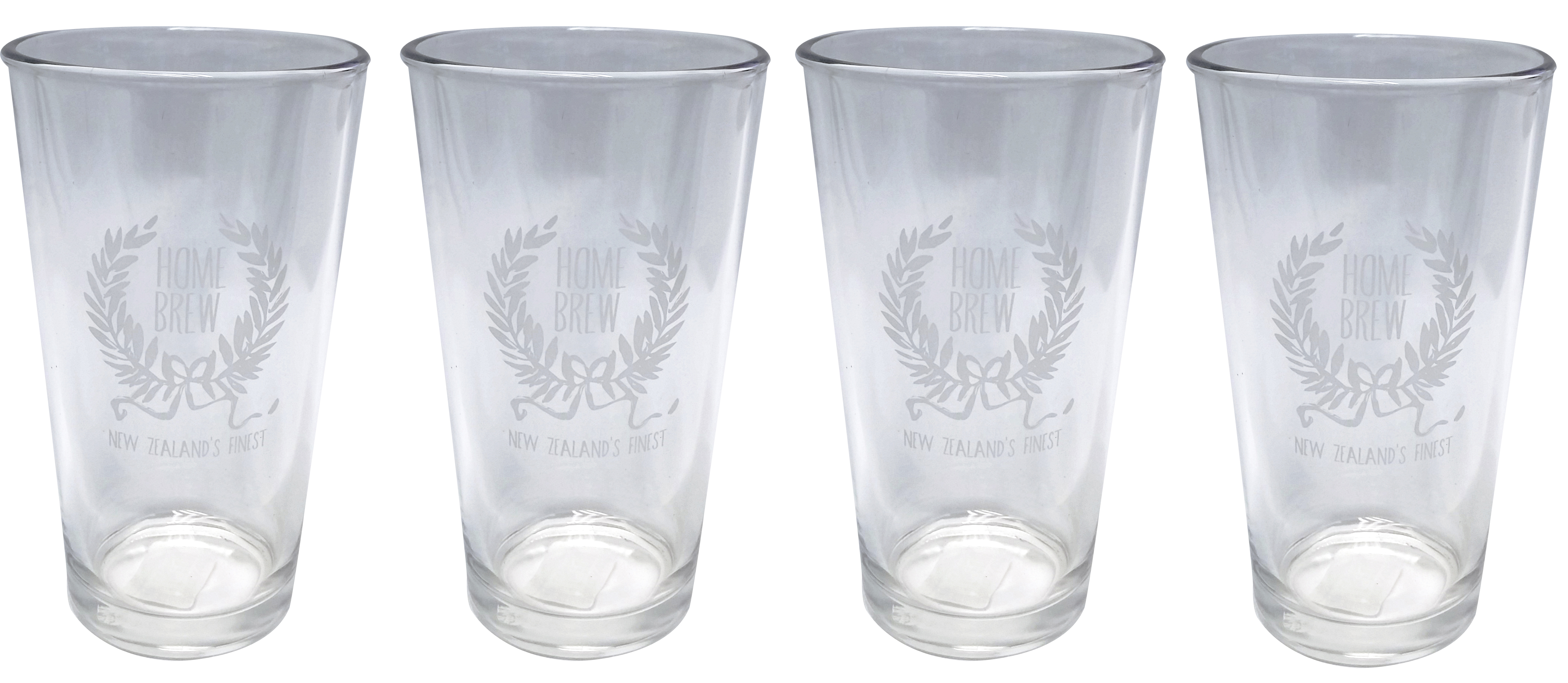 Home Brew Beer Glasses 500ml x 4