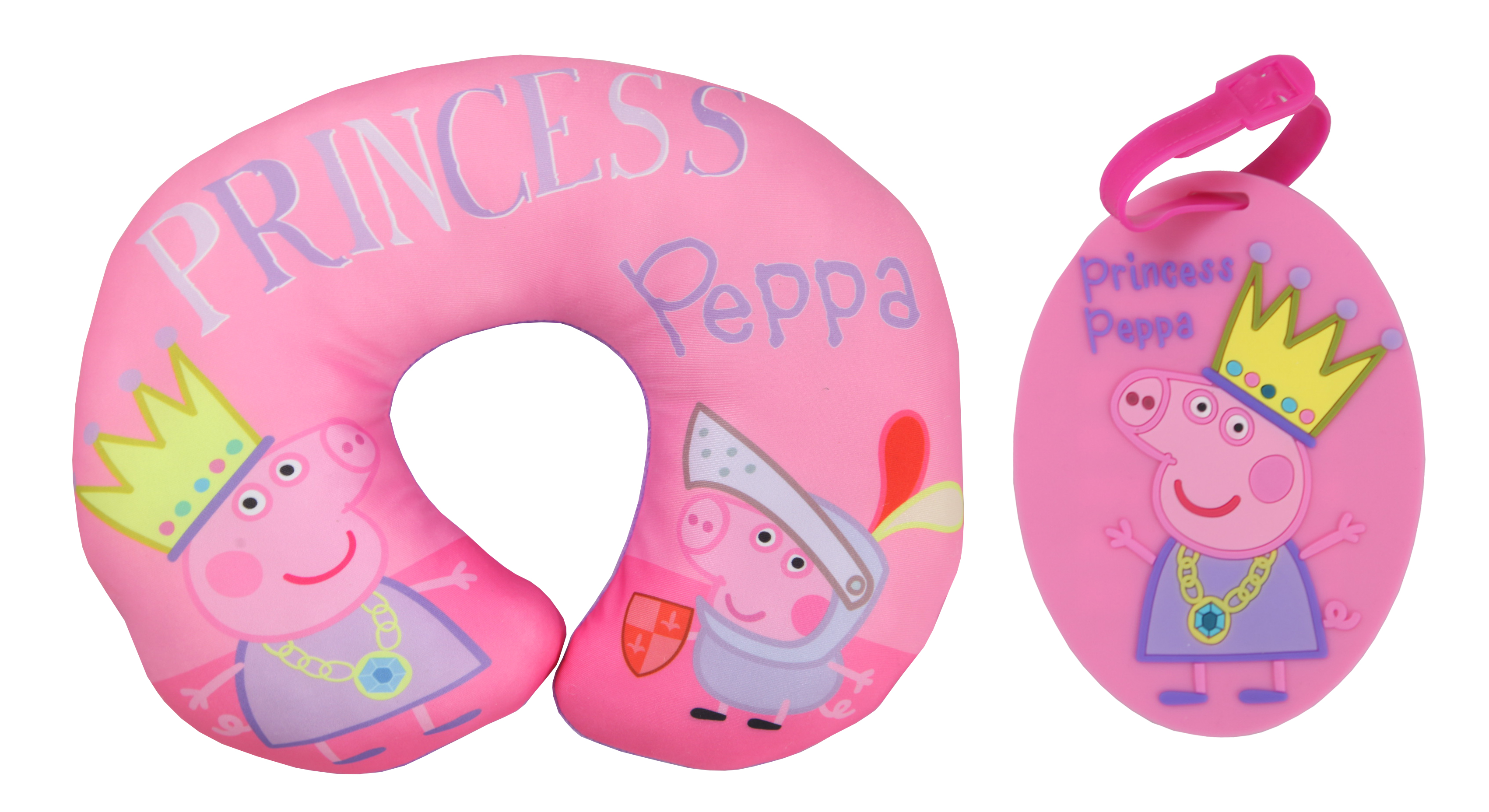 Peppa Pig Princess Travel Pillow with Luggage Tag
