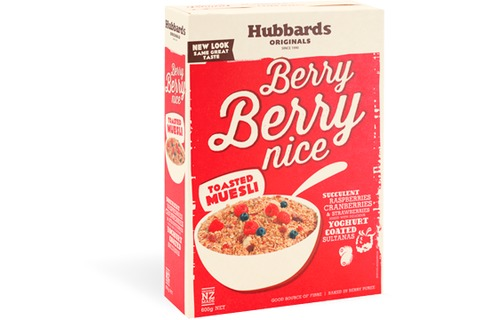Hubbards Toasted Muesli Berry Berry Nice