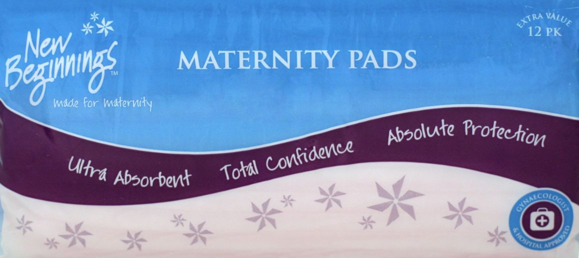 Maternity Pads 12's - New Beginnings