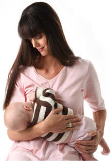 Breastfeeding Night Shirt - Pink with Inbuilt Bra