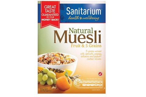 Sanitarium Natural Muesli Fruit & 5 Grains 625g*