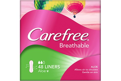 Carefree Breathable Aloe Liners 48