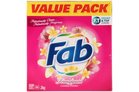 Fab Front Top Loader Laundry Powder 2kg