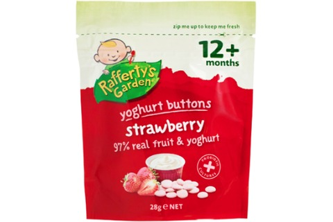 Raffertys Garden Strawberry Yoghurt Buttons 28g