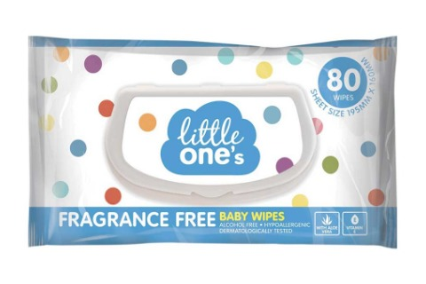 Little Ones Baby Wipes Unscented 80pk
