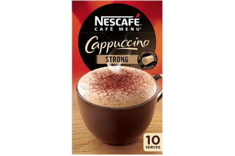 Nescafe Cafe Menu Coffee Cappuccino Strong 10pk