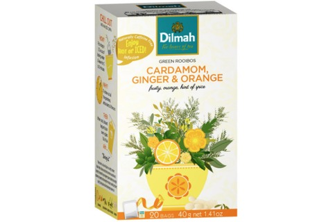 Dilmah Green Rooibos Tea Cardamom Ginger Orange 20pk