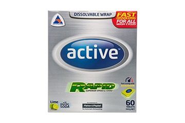 Active Dishwashing Tablets - Lime & Baking Soda