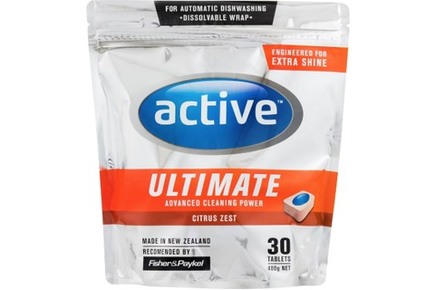 Active Ultimate Dishwasher Tablets Citrus Zest 480g 30pk