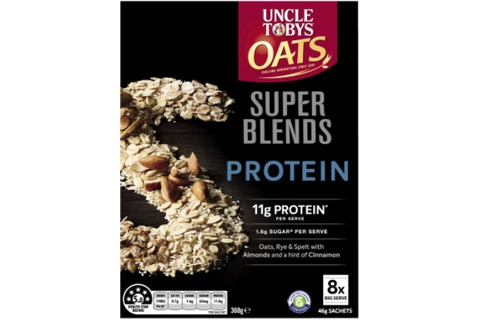 Uncle Toby Oats Super Blends Protein 46g x 8 sachets *