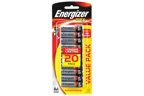 Battery Energizer Max AA - 20 Pack