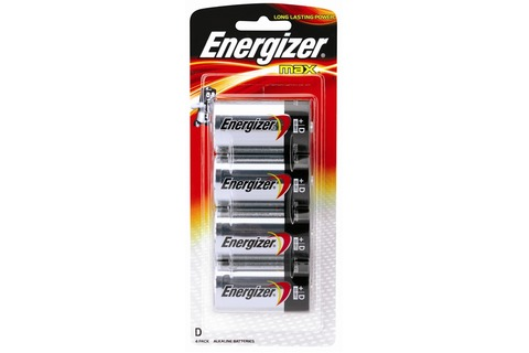 Battery Energizer Max D - 4 Pack